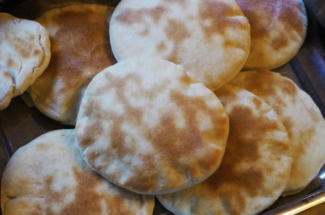 Pan de pita mediterraneo